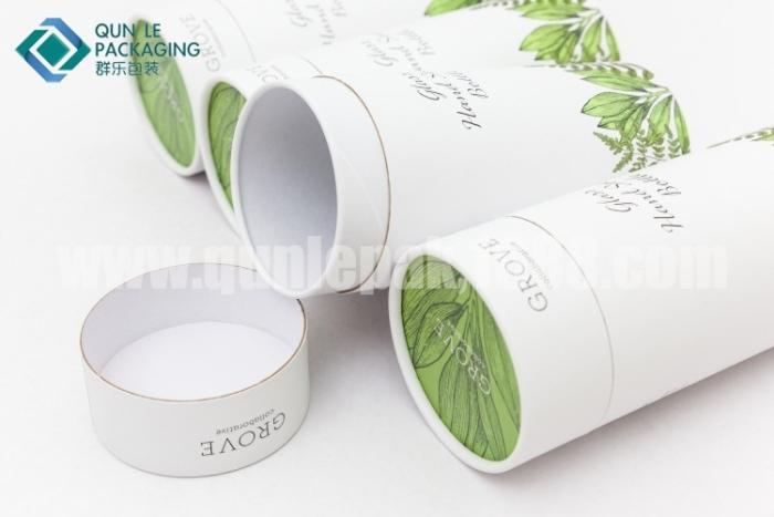 小清新全纸卷边纸罐